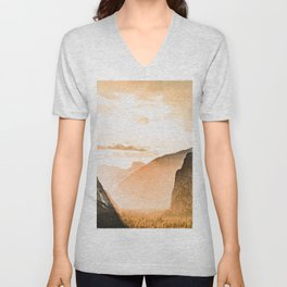 Yosemite Valley Burn - Sunrise Unisex V-Neck