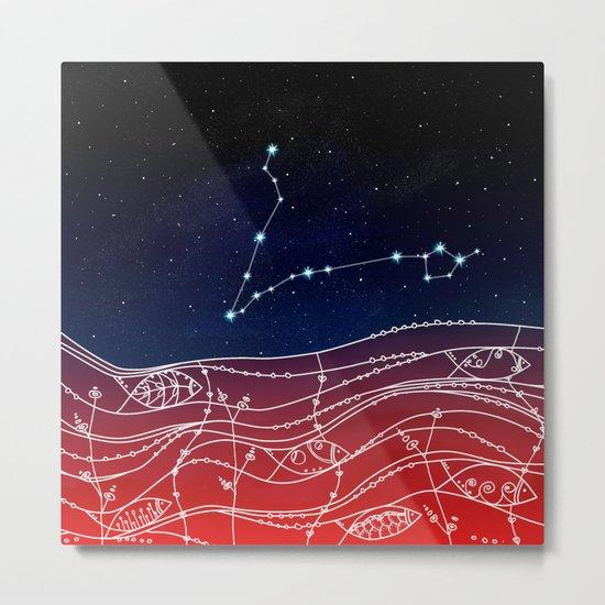 Pisces Constellation Design Metal Print