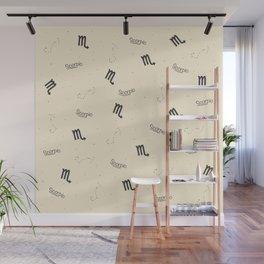 Scorpio Pattern - Beige Wall Mural