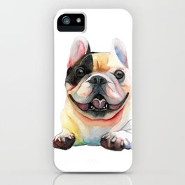 French Bulldog, Happy Dog iPhone Case