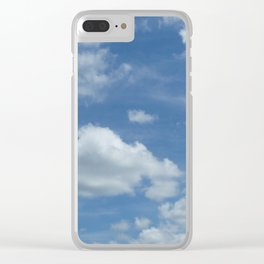 Blue Summer Sky // Cloud Photography Clear iPhone Case
