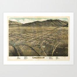 Bird's eye view of Leadville, Lake County, Colorado (1879) Art Print
