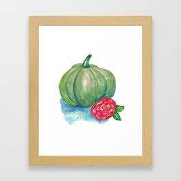 Green pumpkin Framed Art Print
