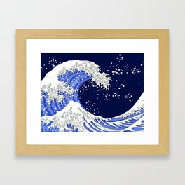 Great Blue Wave Framed Art Print