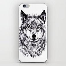 Wolf - Black 'n White iPhone & iPod Skin