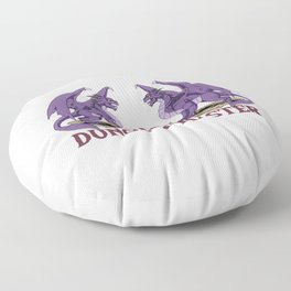 Awesome Vintage DM Tabletop Gaming Gift Dragons D20 Dice Print Floor Pillow
