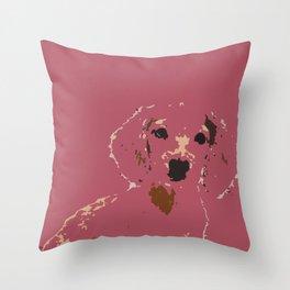 Pink Lady - Dachshund, Weiner Dog, Doxie, everywhere!   Throw Pillow
