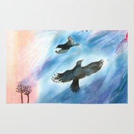 Crow flight Rug