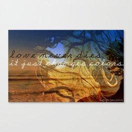 love never dies #2 Canvas Print