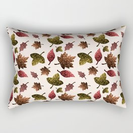 Sparkly leaves fall autumn sparkles pattern Rectangular Pillow