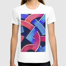 Roads Colorful Abstract Geometric Pattern Design T-shirt