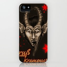 Krampuskarten iPhone Case