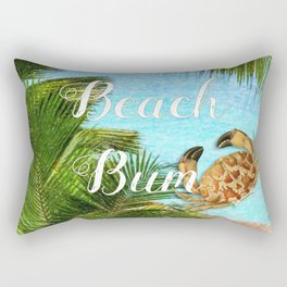 Beach Bum Summer Fun Rectangular Pillow