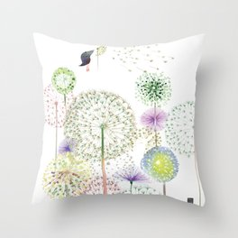 DANDELION FUN Throw Pillow