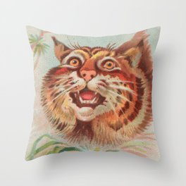 American Wild Cat by A&G Throw Pillow