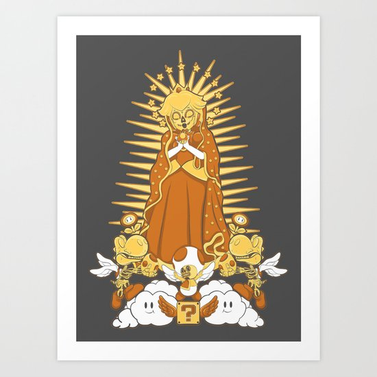 Holy Peach Day of the Dead Tribute Art Print
