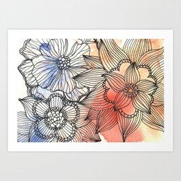 flower pattern crush Art Print