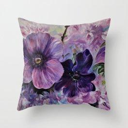 Bleu de printemps Throw Pillow