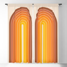 Gradient Arch - Vintage Orange Blackout Curtain