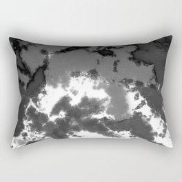 Splattered Black and White Tie Dye Rectangular Pillow