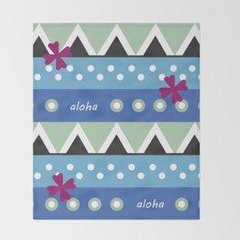 Hawaiian Tapa Throw Blanket