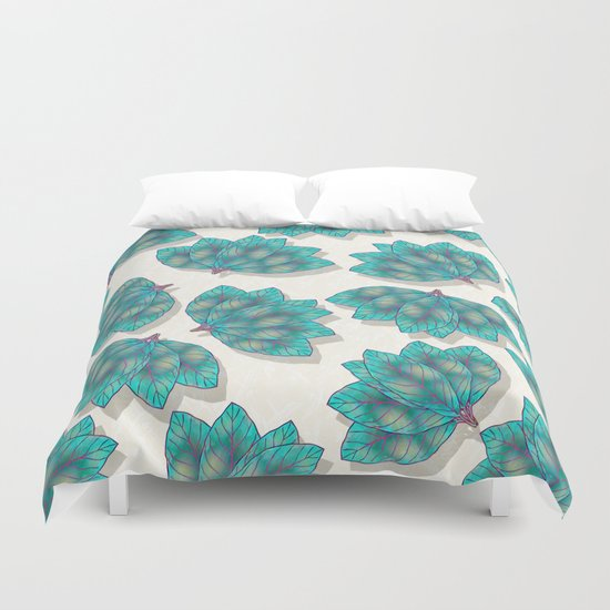 Colorful Leaves 3 Duvet Cover