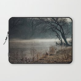 Morning fog, river and sunrise Laptop Sleeve