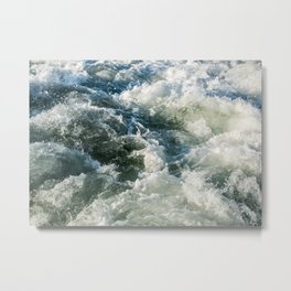Choppy Water Metal Print