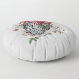 Beautiful Brain ~ Gray Floor Pillow