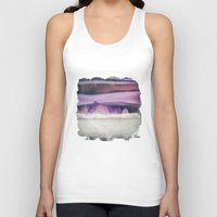 northern lights Tank Tops featuring Northern Lights by SpaceFrogDesigns