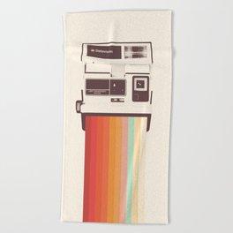 Instant Camera Rainbow Beach Towel