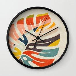 shape leave modern mid century Wall Clock