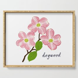 Dogwood Blossoms Serving Tray