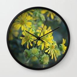 Thin Leaf Sunflowers Wall Clock