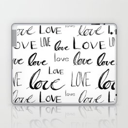 Painted Love on White Laptop & iPad Skin
