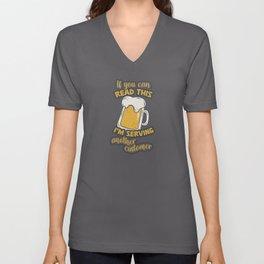 Bartender Party Cocktail Drinks Pun Unisex V-Neck