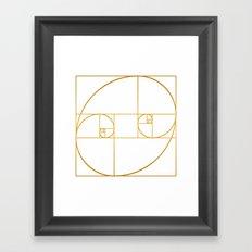 Golden Oval Framed Art Print