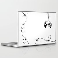 gaming Laptop & iPad Skins featuring Gaming Console by Thea Isla Design