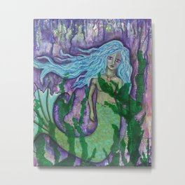 DARK WATERS, Mermaid Metal Print