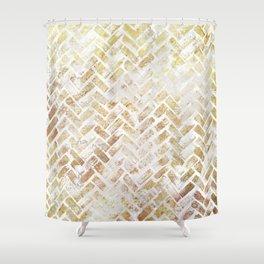 Glam Herrigbone Shower Curtain