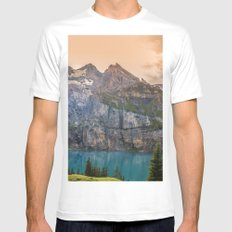 A Piece of Paradise MEDIUM White Mens Fitted Tee
