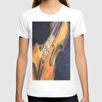 violin T-shirts featuring Violin by Renny Hendra