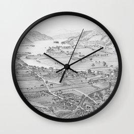 Ticonderoga Map 1884 Wall Clock