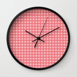 Cute polka dots and heart pattern Wall Clock
