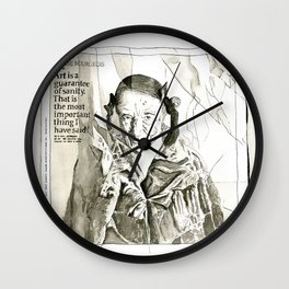 Art is a guarantee of Sanity Wall Clock