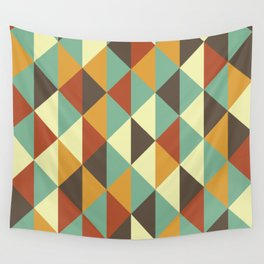 Triangle stencil Wall Tapestry