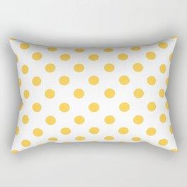 Polka Dots (Orange & White Pattern) Rectangular Pillow