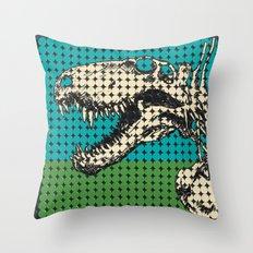 Dimetrodon Skeleton Throw Pillow