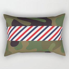 Barber Camo Pattern Rectangular Pillow
