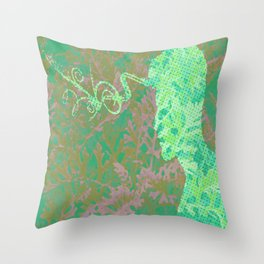 Living in the Forest Throw Pillow